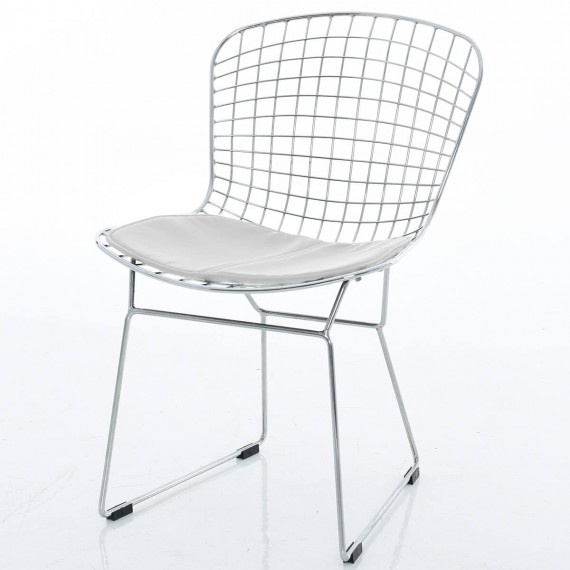 Chrome Bertoia stoel replica door Harry Bertoia
