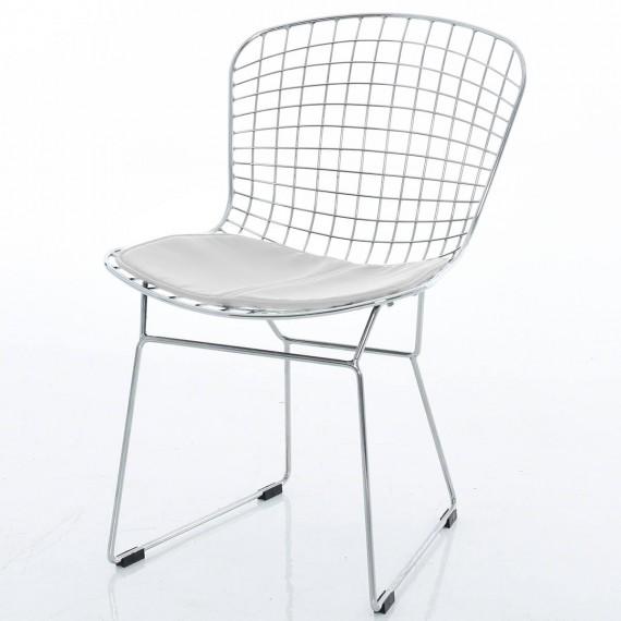 Chrome Bertoia stol replika av Harry Bertoia