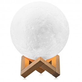 Lampa LED 3D Moon Lamp o średnicy 15 cm i złączem USB