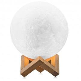 3D Moon Lamp LED-ljus med 15 cm diameter och USB-anslutning