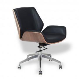 Nordic Lowback Bürostuhl aus italienischem Leder