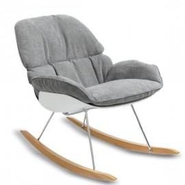Fotel bujany Replica Bay Rocking Chair z szarą poduszką