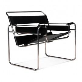 Replika designerskiego krzesła Wassilly Chair ze skóry