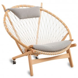 Replik des High-End PP130 Circle Armchair von Hans J. Wegner