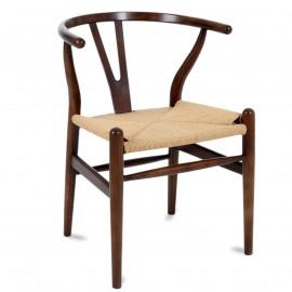 Wish CH24 Stuhl handgefertigt aus Walnussholz