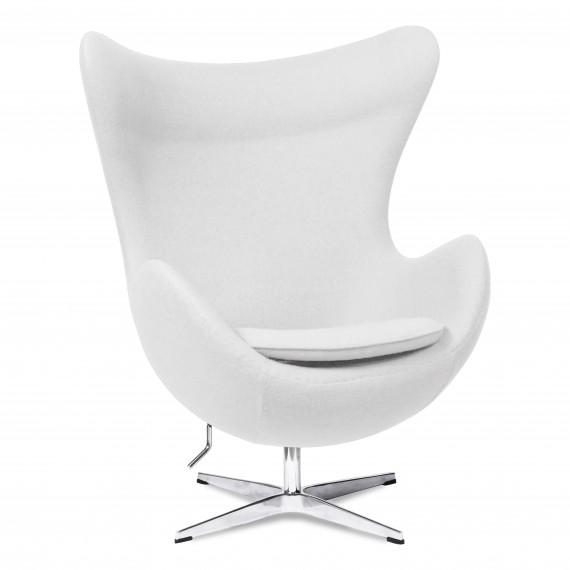 Replika židle Egg v kašmíru od designéra Arne Jacobsen