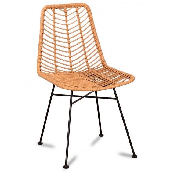 Le Midi Stuhl in Rattan perfekt für den Außenbereich