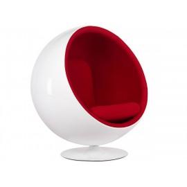 Ball Chair Draaifauteuil van flanelstof en glasvezel fiber
