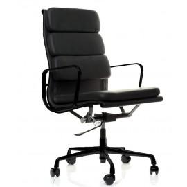 Replika av Soft Pad EA219 kontorsstol i svart aluminium