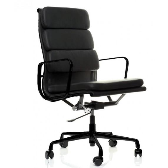 Replik des Soft Pad EA219 Bürostuhl aus schwarzem Aluminium