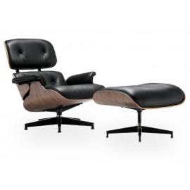 Replica Eames Lounge Chair aus braunem Cognac-Leder von Charles & Ray Eames