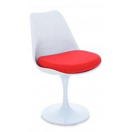 Tulip Chair Tuoli puuvillatyynyllä