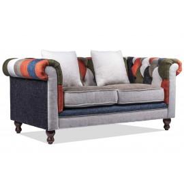 Furmod Sofa Chesterfield Patchwork 2 Seater