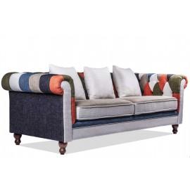 furmod Sofa Chesterfield Patchwork 3-zitsbank