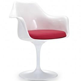 Krzesło Tulip Arms z bawełnianymi poduszkami