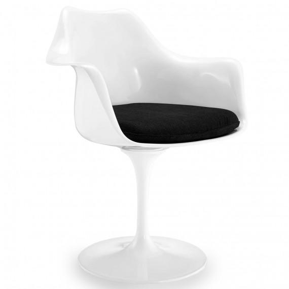 Replika krzesła Tulip z podłokietnikami i poduszką