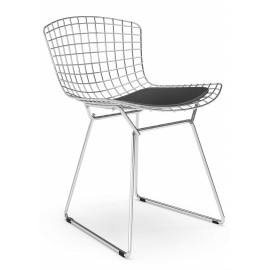 """Replica Bertoia tuoli """"High Quality"""" kromiteräksestä, kuuluisa suunnittelija Hans J. Wegner"""