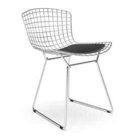 """Replica Bertoia stoel """"Hoge kwaliteit"""" in chroomstaal van de beroemde ontwerper Hans J. Wegner"""
