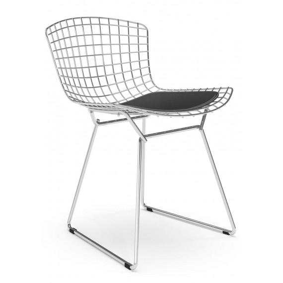 """Replik Stuhl Bertoia """"High Quality"""" aus Chromstahl des berühmten Designers Hans J. Wegner"""