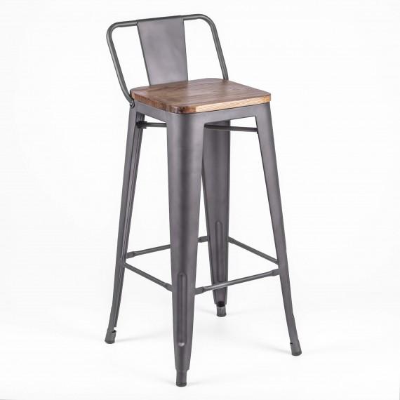 Průmyslová stolička Bistro LB Wood