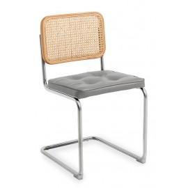 Krzesło rzemieślnicze Cesca z naturalnego rattanu i poduszki bawełnianej