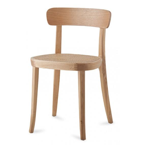 Tours Stuhl aus natürlichem Rattan und Eschenholz im nordischen Stil.