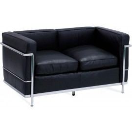 Inspiration Beckham 2-sits soffa i modern stil Aniline Leather