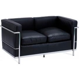 Inspiracja 2-osobowa sofa Beckham w nowoczesnym stylu ze skóry anilinowej