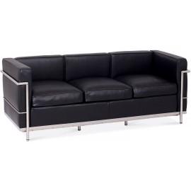 Inspiracja 3-osobowa sofa Beckham w nowoczesnym stylu ze skóry anilinowej