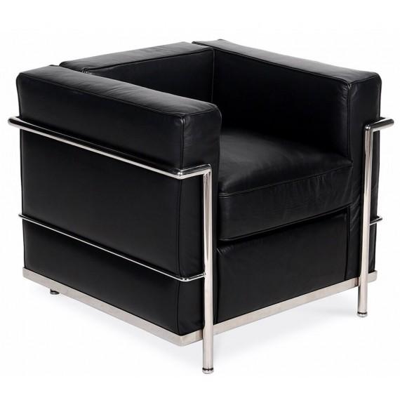 Inspiration Beckham LC2 Sessel aus modernem Anilinleder