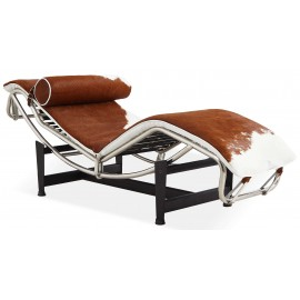 Chaise Lounge LC4 replica in ponyleer
