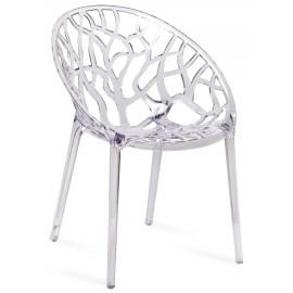 Replika przezroczystego kryształowego krzesła ogrodowego