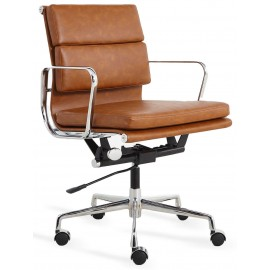 Replica Soft Pad Bürostuhl aus abgenutztem Kunstleder