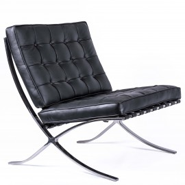 Židle Barcelona Chair HQ z italské květinové kůže