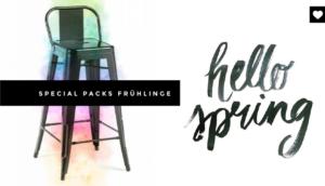 Diesen Frühling, Designer-Möbel Packs