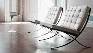 Designermöbel, mit denen man angenehm warten kann.
