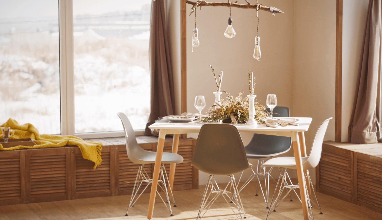 Tricks für ein Low-Cost Wohn- oder Esszimmer