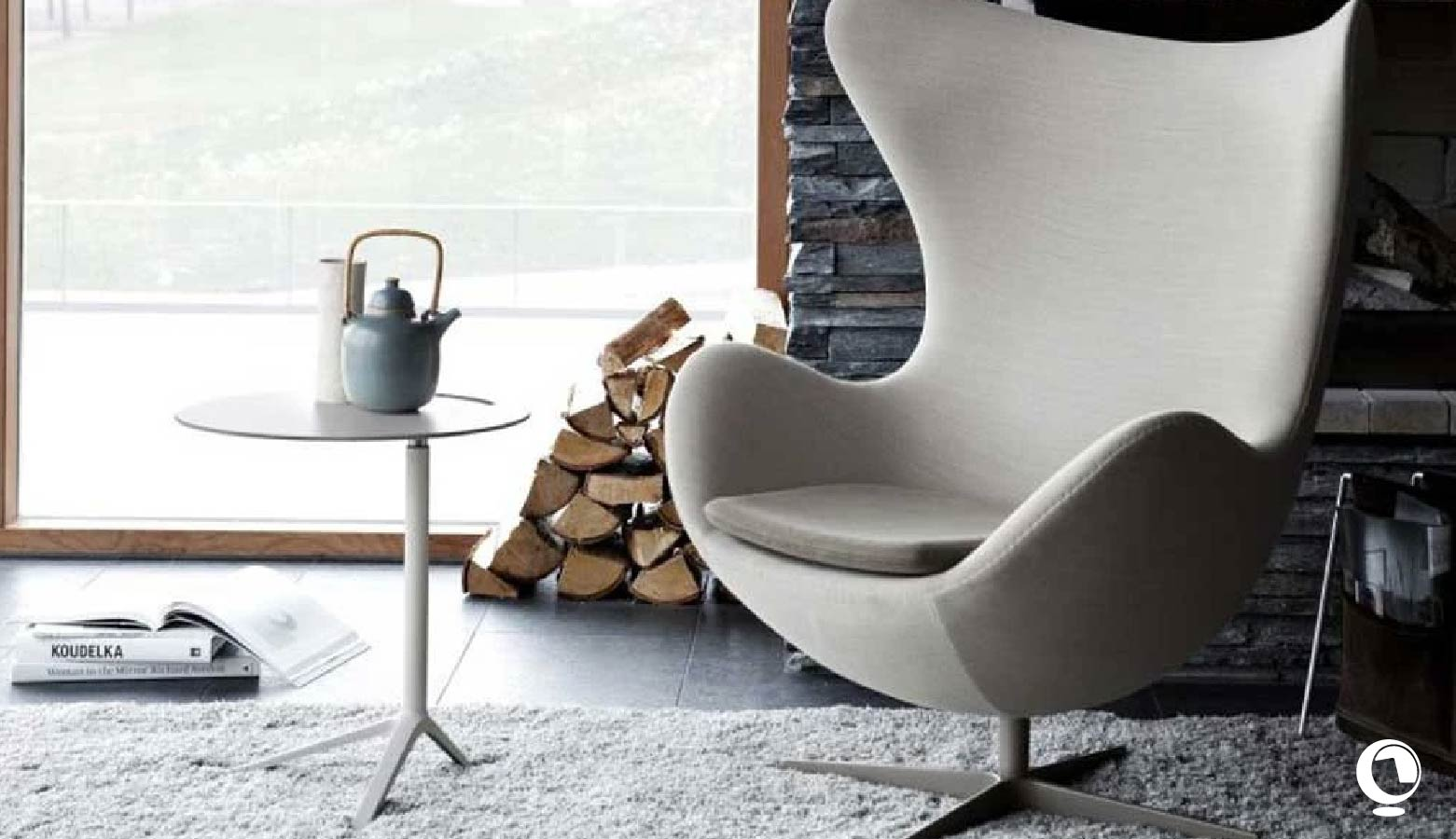 Egg Chair, der Ei- Sessel von Arne Jacobsen